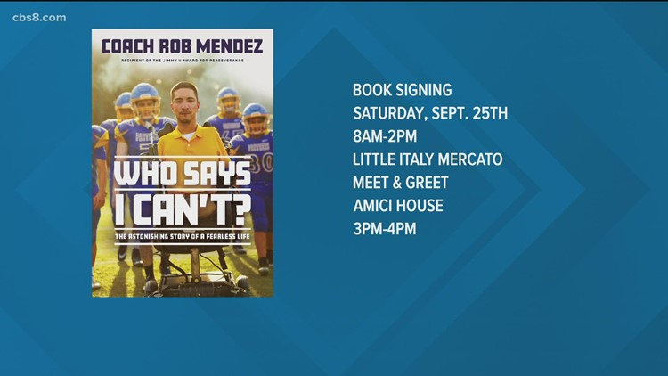 Coach Rob Mendez: Born with no arms or legs, author of 'Who Says We Can't'