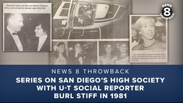 News 8 Throwback: Series on San Diego's high society with U-T social reporter Burl Stiff in 1981