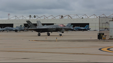 MCAS Miramar gets brand new F-35C Lightning II fighter jet