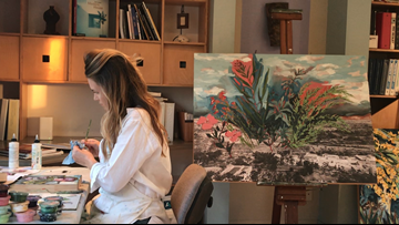 Painting on her own, San Diego artist brings attention to San Diego native plants