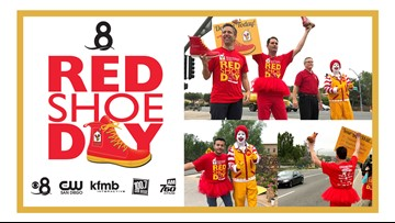 News 8 raises money to support the Ronald McDonald House on 'Red Shoe Day'
