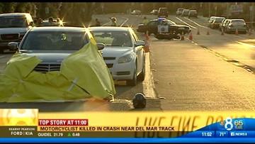 Deadly motorcycle crash in Del Mar