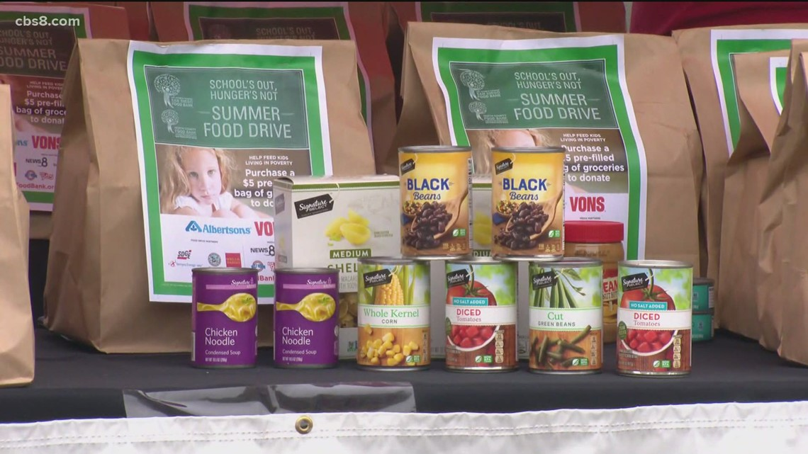 Help feed local children at the School's Out, Hunger's Not Food Drive
