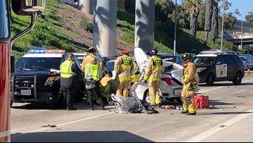 Man killed in crash on Interstate 5 near East Village | cbs8 com