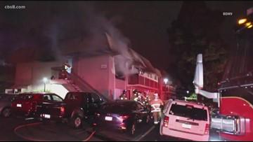 Fire rips through Solana Beach apartment complex, residents evacuate