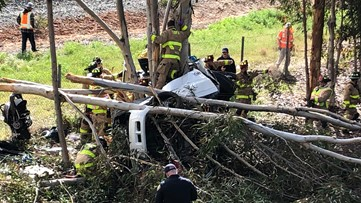 One person dies after crashing into tree on Sea World Drive