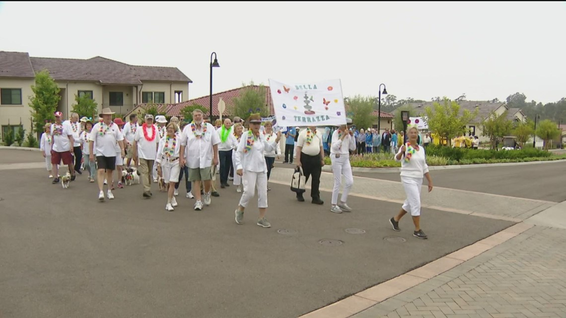 San Diego retirement community kicked off their version of the Olympics