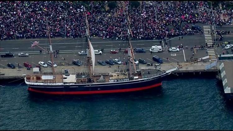 San Diego Women's March 2018 harbor ship