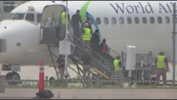 Second plane with migrants from Texas lands in San Diego