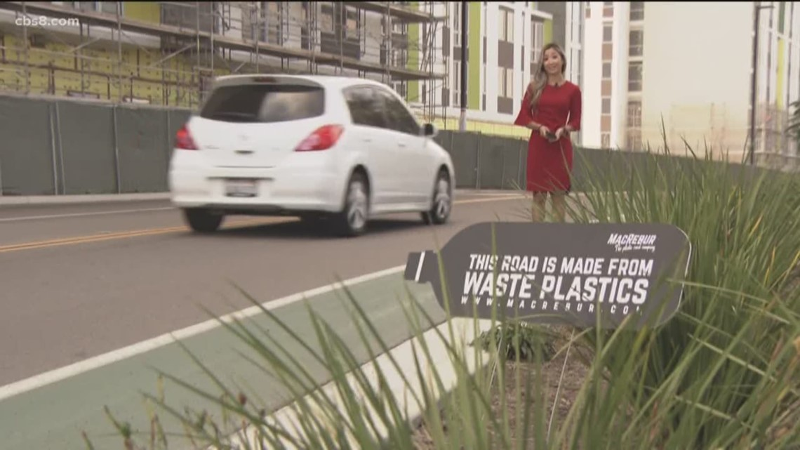 Road made of recycled plastic at UC San Diego is first of its kind in America
