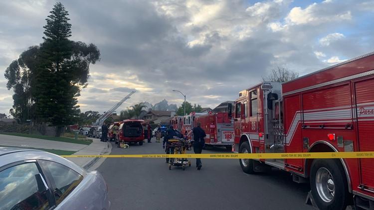Crews responding to house fire in Mira Mesa