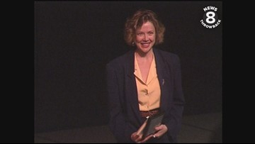Annette Bening in San Diego to visit her alma mater Mesa College in 1991
