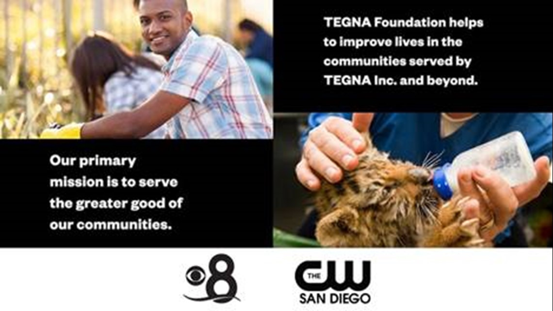 TEGNA Foundation and CBS 8 donate $15,000 to local non-profits