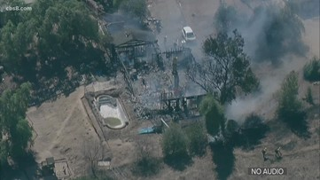 Fire destroys home north of Sycuan Casino