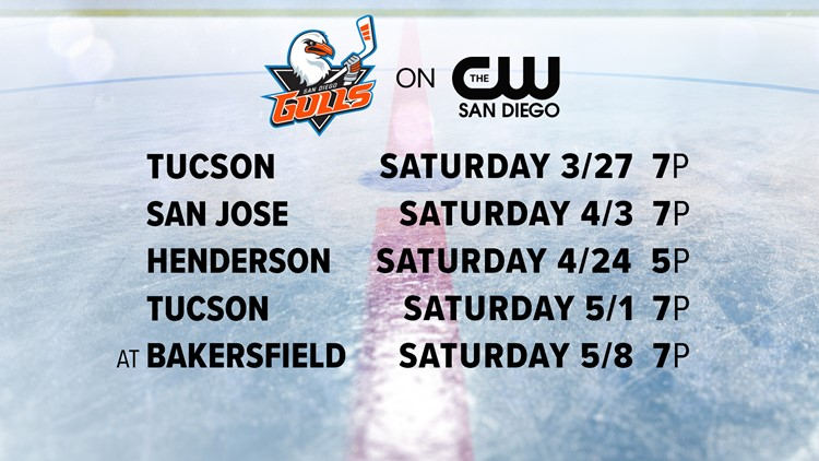 Get ready for hockey! Watch the Gulls on the CW San Diego starting March 27