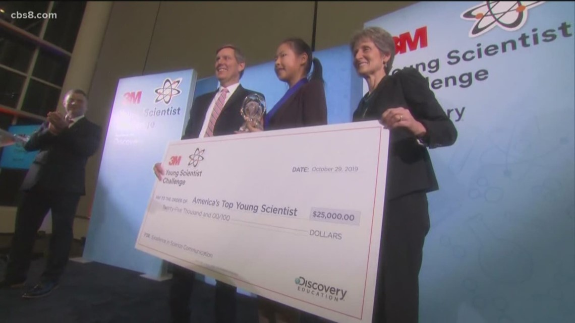 San Diego girl wins America's Top Young Scientist award