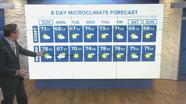 News 8 forecast for Oct. 16 at 5 p.m.