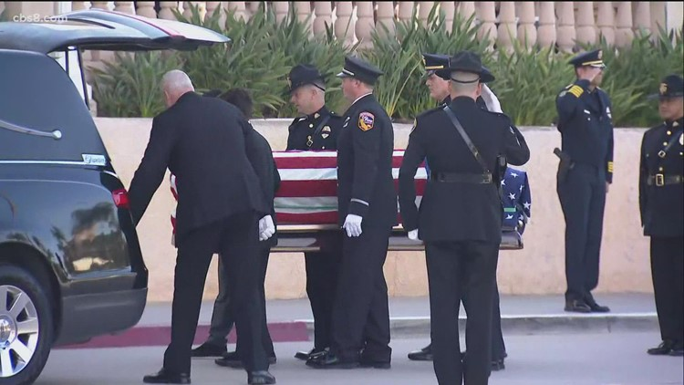 Hundreds gather to remember former SDPD officer and San Diego Padres catcher Dan Walters