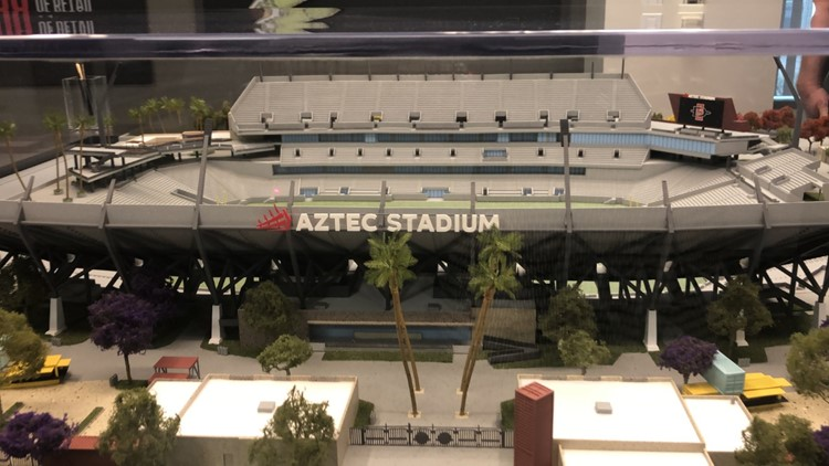 Plans for San Diego State stadium now shown in private tours