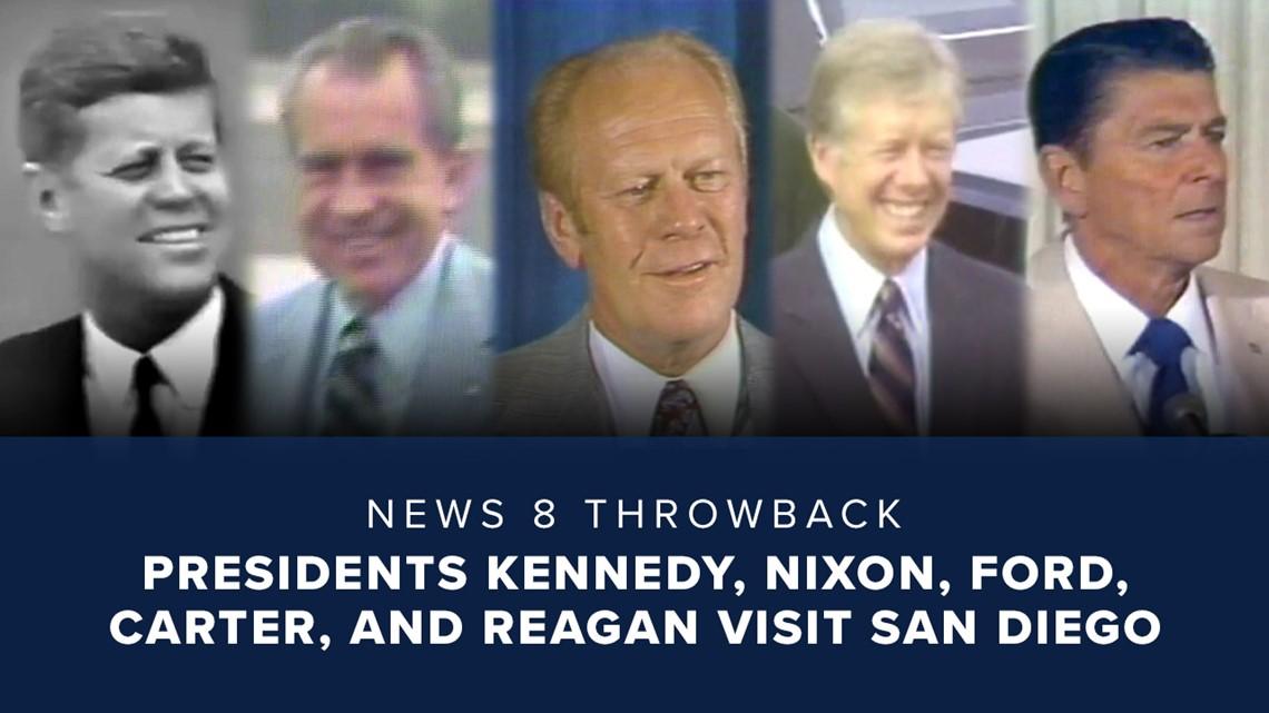 News 8 Throwback: Presidents Kennedy, Nixon, Ford, Carter, and Reagan visit San Diego