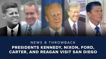 News 8 Throwback: Presidents Kennedy, Nixon, Ford, Carter, and Reagan visit San Diego