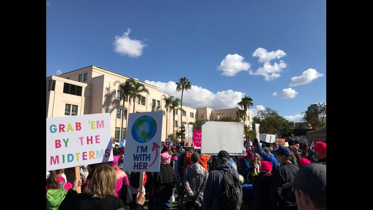 San Diego Women's March 2018 signs