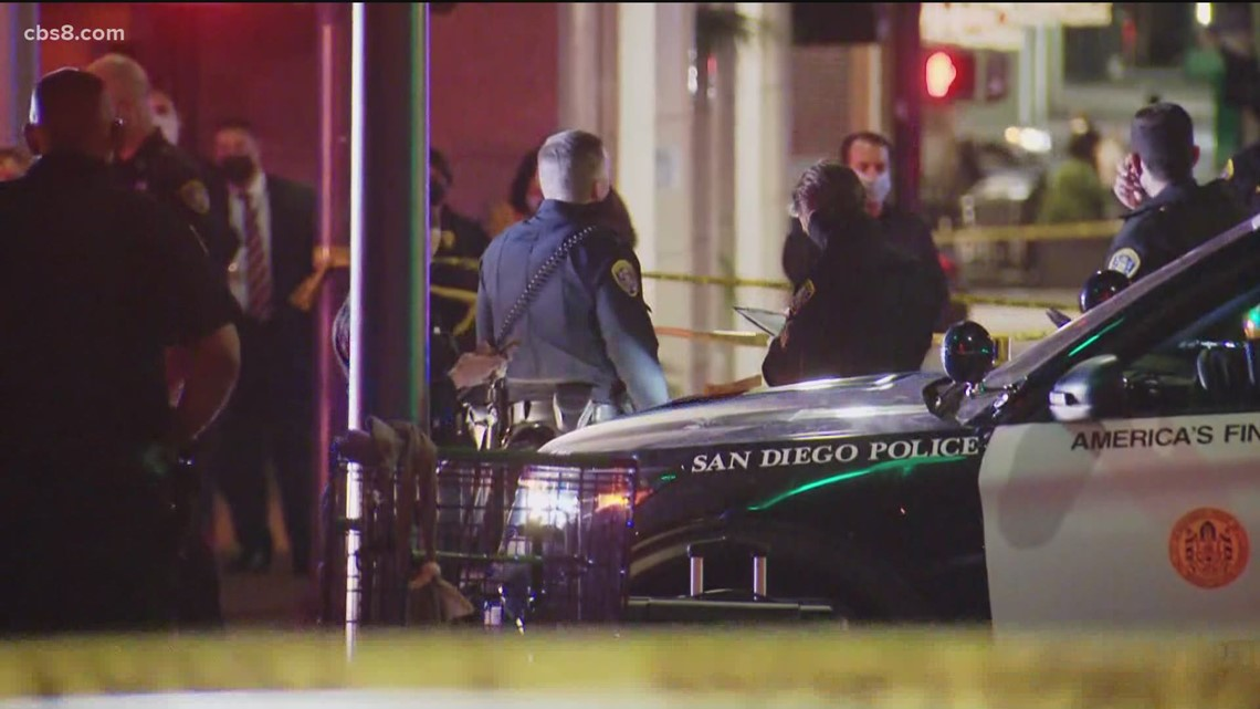 Officer-involved shooting in the Gaslamp after a man was reported wielding a knife