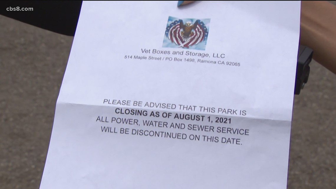 Ramona RV residents to be forced off property due to a zoning issue