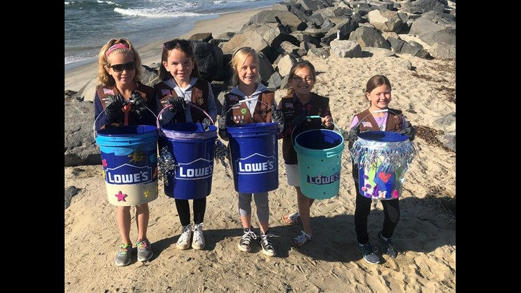 Girl Scouts clean SD 1
