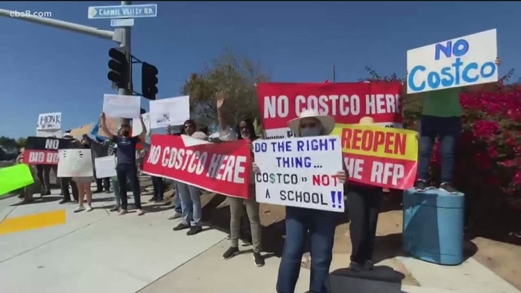 Parents rally again against a proposed Costco location in Black Mountain Ranch