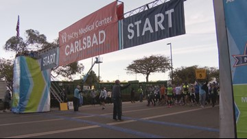 News 8's Marketing Producer starts new life by finishing Carlsbad Half Marathon.