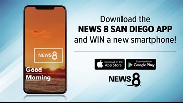 Download the News 8 San Diego app and win a new smartphone!
