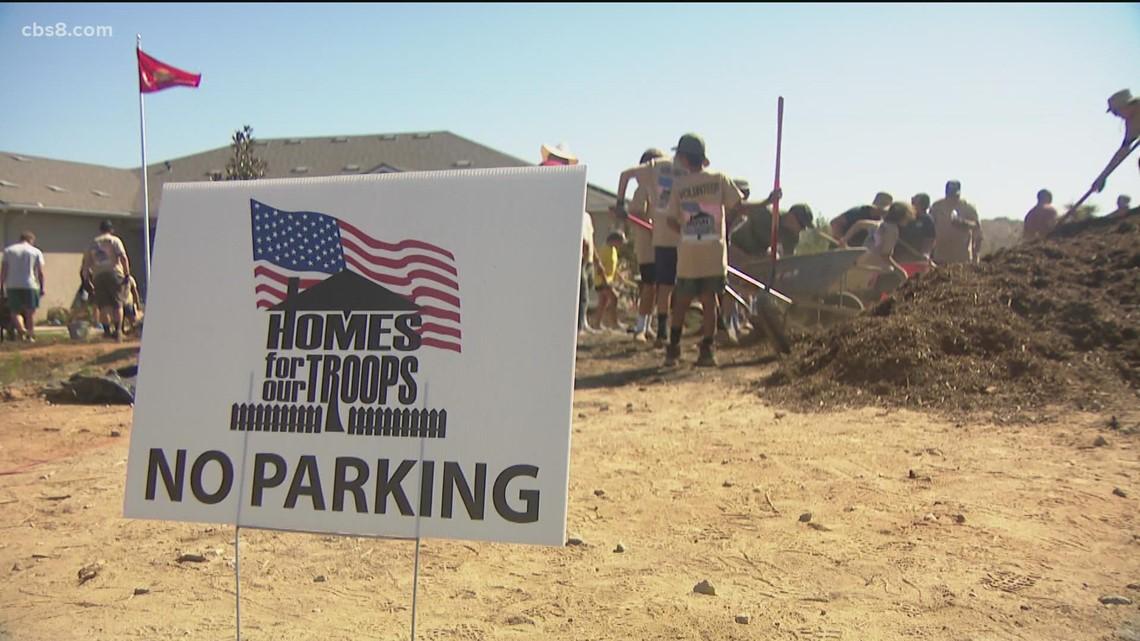 Volunteers building former Marines new homes in Escondido