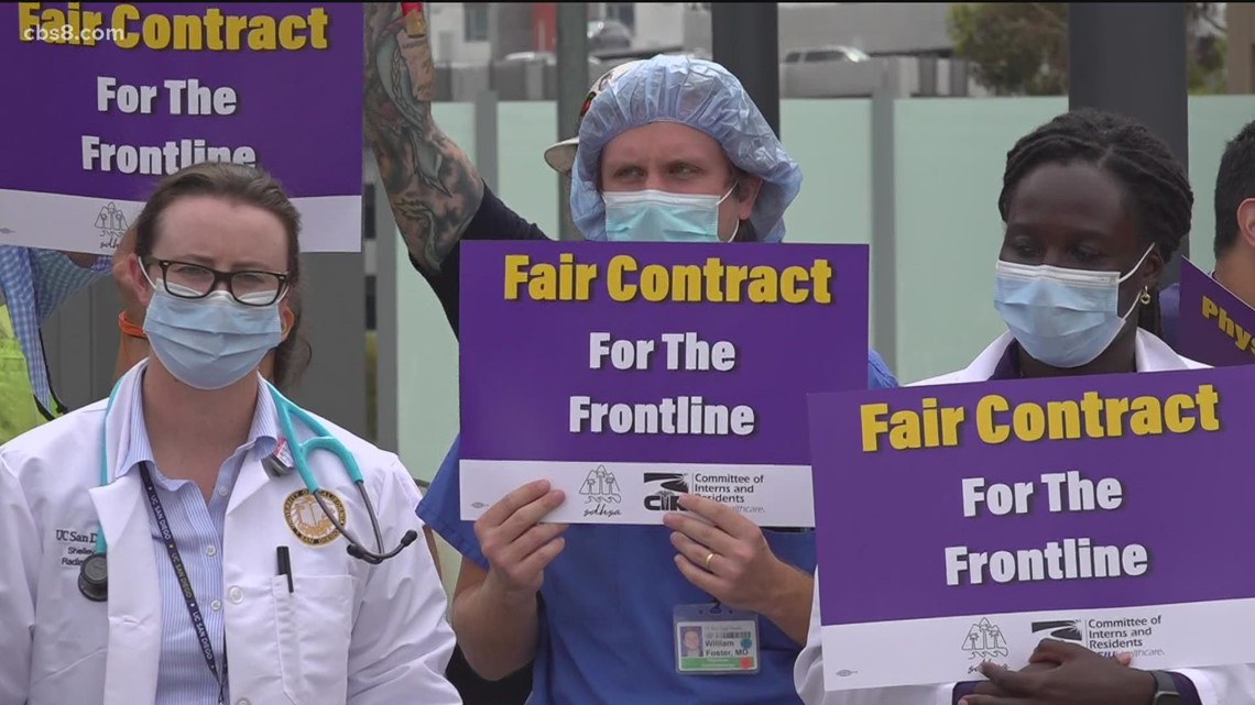 UCSD resident physicians protest over fair contract