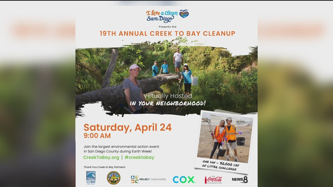 Creek to Bay Cleanup being held on April 24