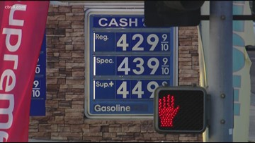Gas prices rise overnight