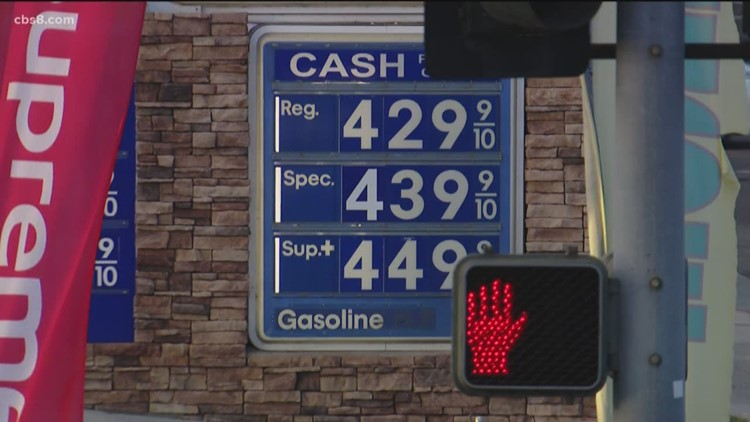 San Diego County gas prices at highest amount in over 4 years