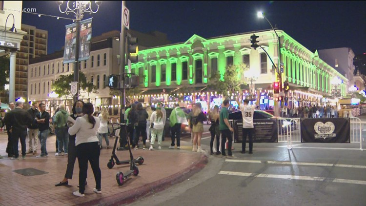 Gaslamp Quarter hosts St. Patrick's Day celebrations under new red tier
