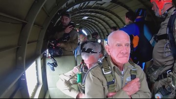D-Day Veteran & Coronado resident jumps from plane over Normandy for 75th anniversary