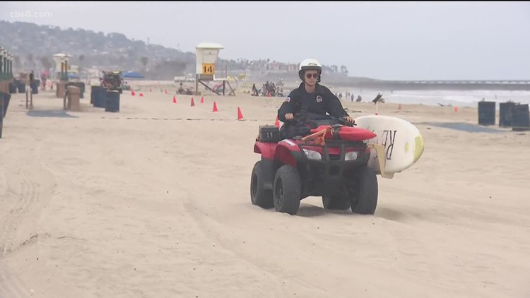 Beach preparations underway for the Fourth of July weekend