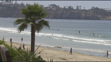 Unusually warm water temperatures off the San Diego coast
