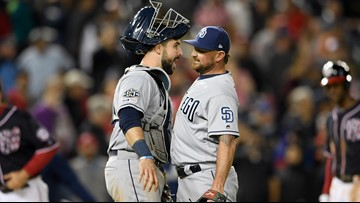 Renfroe, Hosmer homer as Padres edge Nationals 4-3