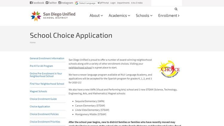 School Choice Application