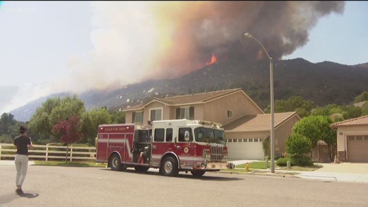 Tenaja Fire evacuation orders lifted as crews put out hot spots