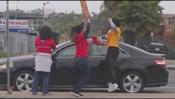 San Diegans show their support for Red Shoe Day