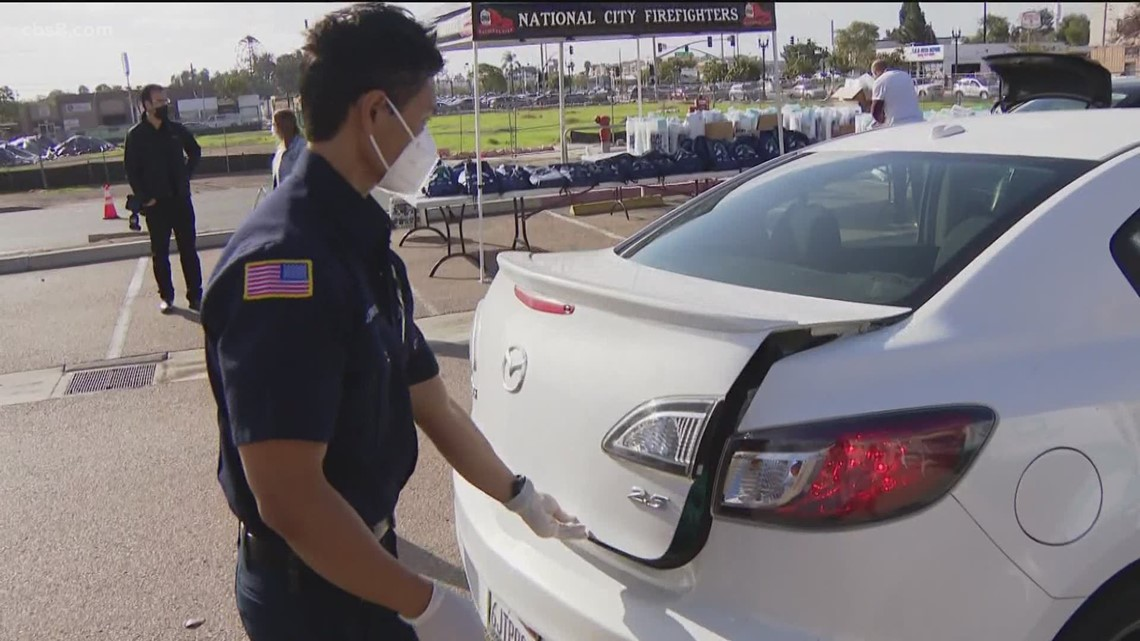 National City leaders hold drive-thru safety event asking public to stay home for Super Bowl