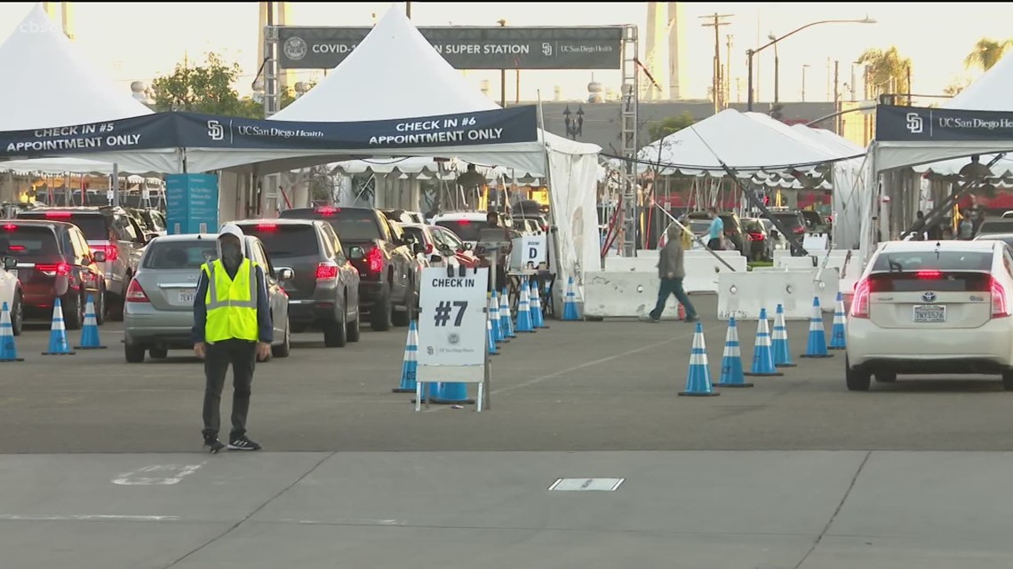 Petco Park super station to closes Saturday due to supply issues just as new vaccination groups become eligible