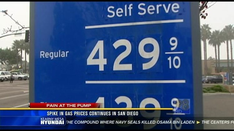 Gas Prices San Diego >> Spike In Gas Prices Continues In San Diego Cbs8 Com