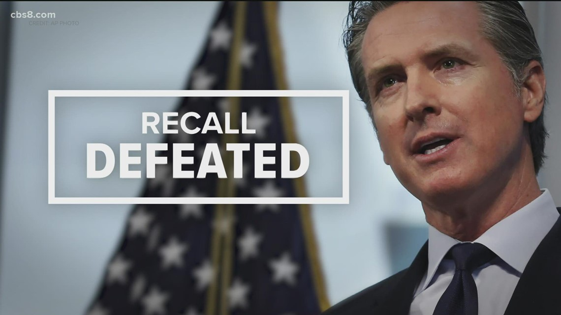Newsom stays in office after recall election fails