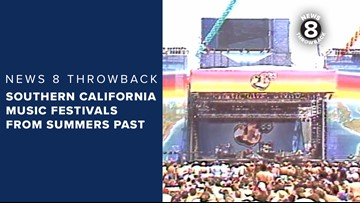 News 8 Throwback: Southern California music festivals from summers past